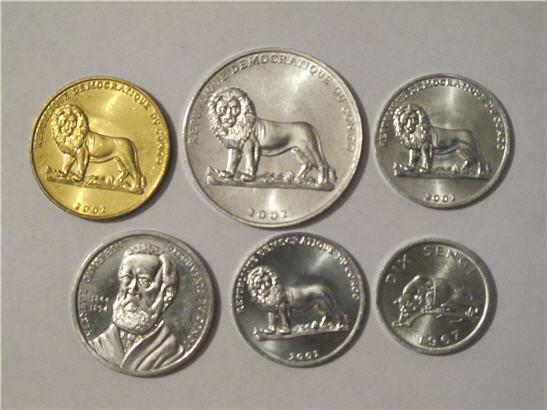 Набор монет конго рабочий кооператив