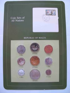 Набор монет Мальта 1972-1982 - Coins of All Nations